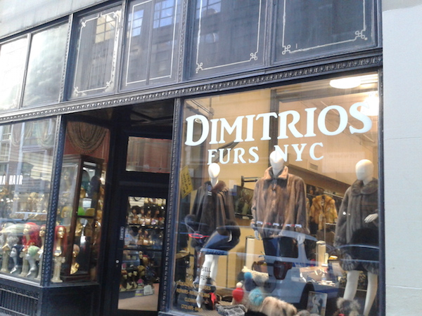 Dimitrios Furs NYC, LLC has been a family owned business since 1937. Photo by Scott Stiffler.