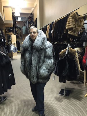 Dimitrios Furs owner Peter Dimitrios at his store. Photo courtesy of Dimitrios Furs