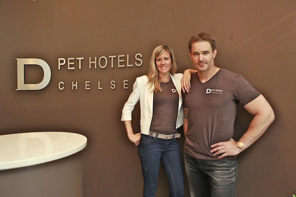 D Pet Hotels Chelsea co-owners Kerry Brown and her husband, Chris Skowlund. File photo courtesy of D Pet Hotels Chelsea